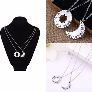 Jewelry - PREVIEW Love Engraved Moon His & Hers Necklace Set